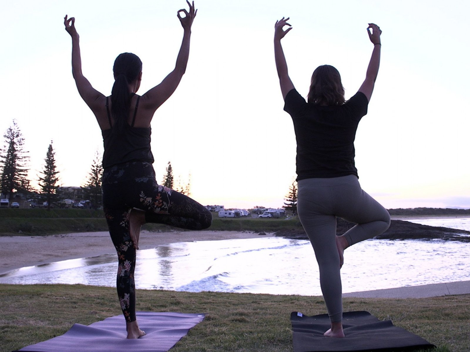 Theres always time to enjoy some beachside yoga in Port Macquarie