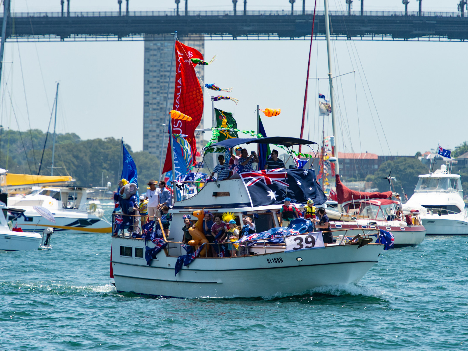 Buccaneer won the judges special bonus award at the Australia Day Harbour Parade 2019