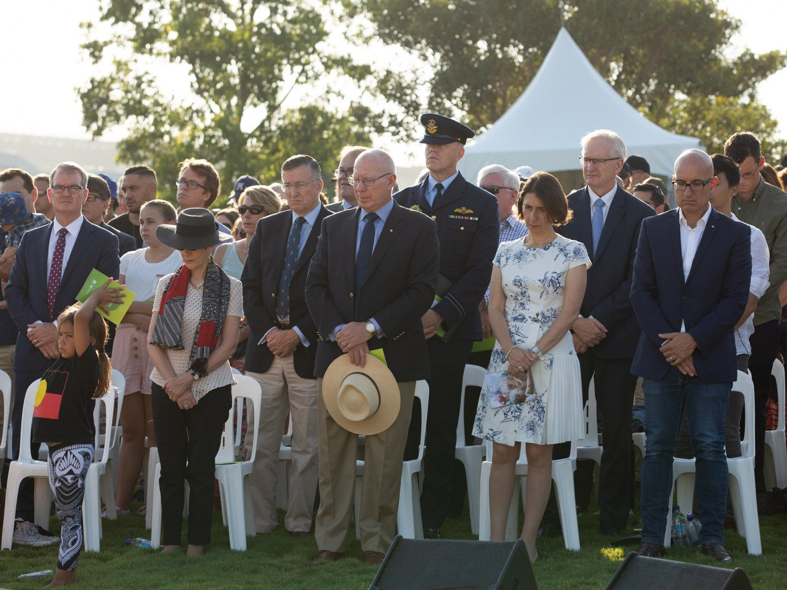 The Governor of NSW and the Premier of NSW at the Wugulora Morning Ceremony
