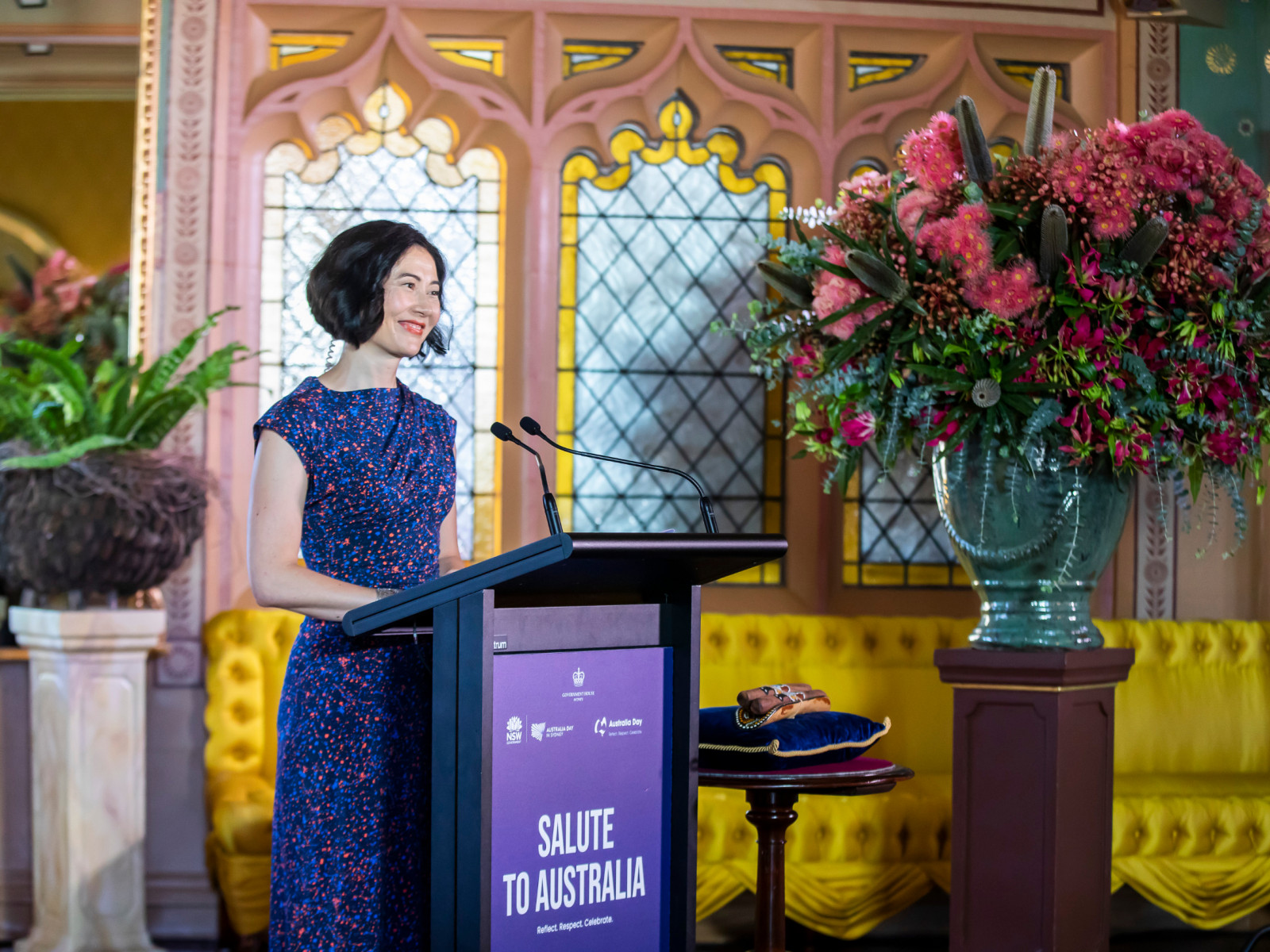 Anna Choy at Salute to Australia at Government House