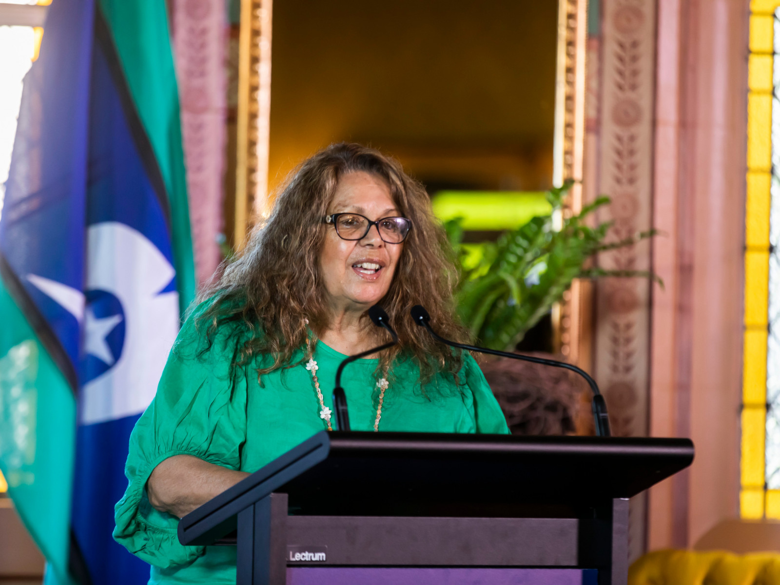 Ann Weldon speaking at Salute to Australia
