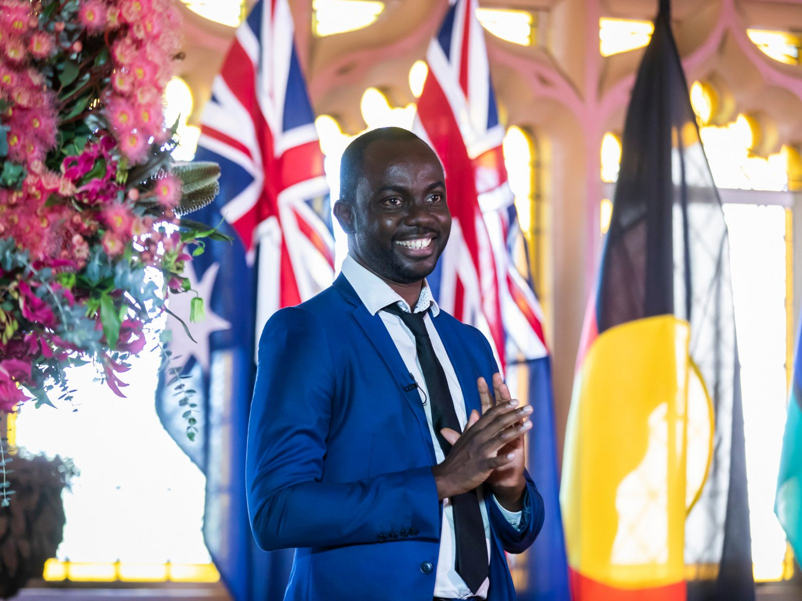 New citizen Daniel Abobaw at Salute to Australia